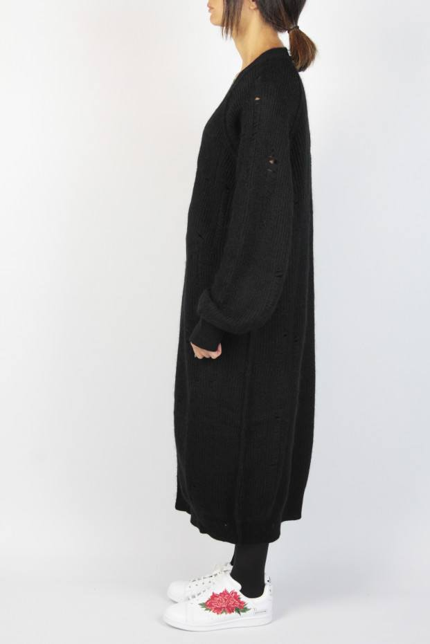 Hole Long Cardigan