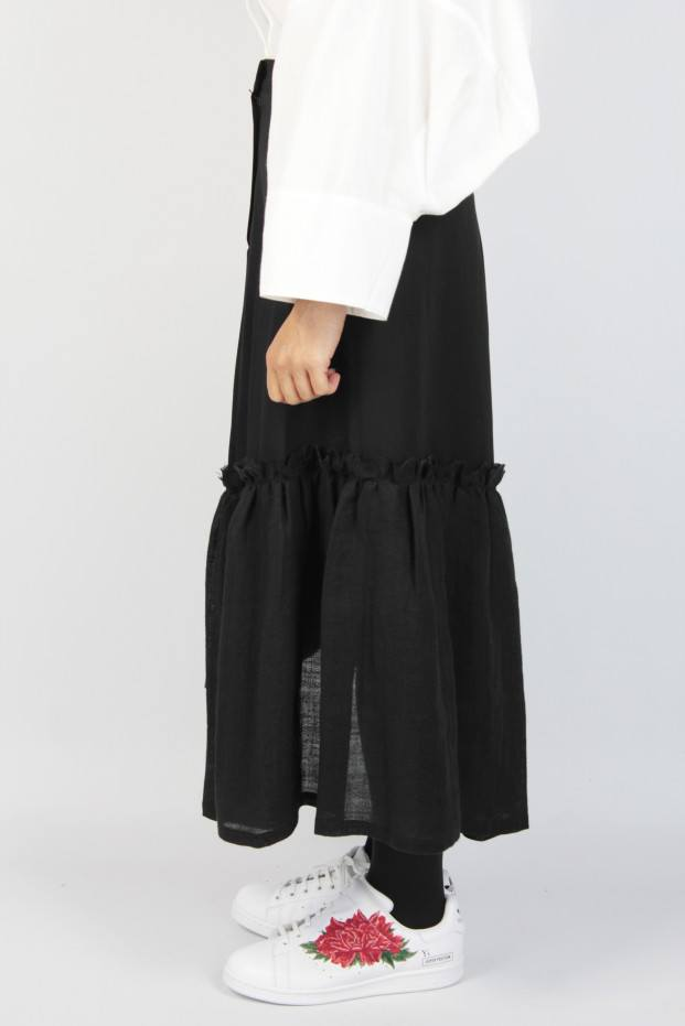 Gather Slit Skirt