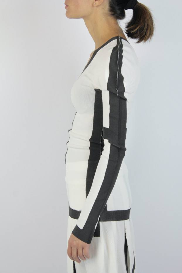 Issey Miyake Frame Ls Sweater