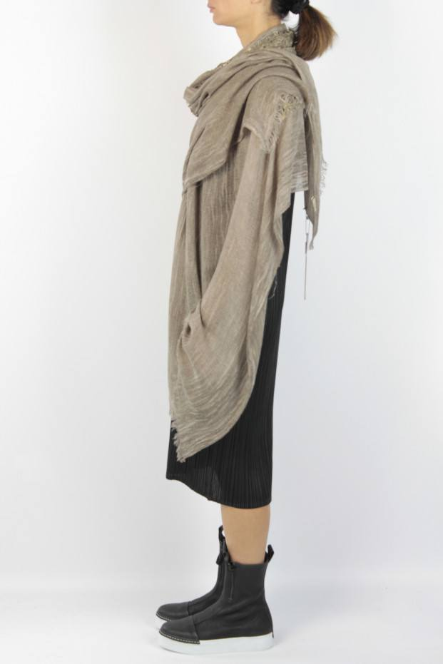 Claudio Cutuli Laser Leather Stole