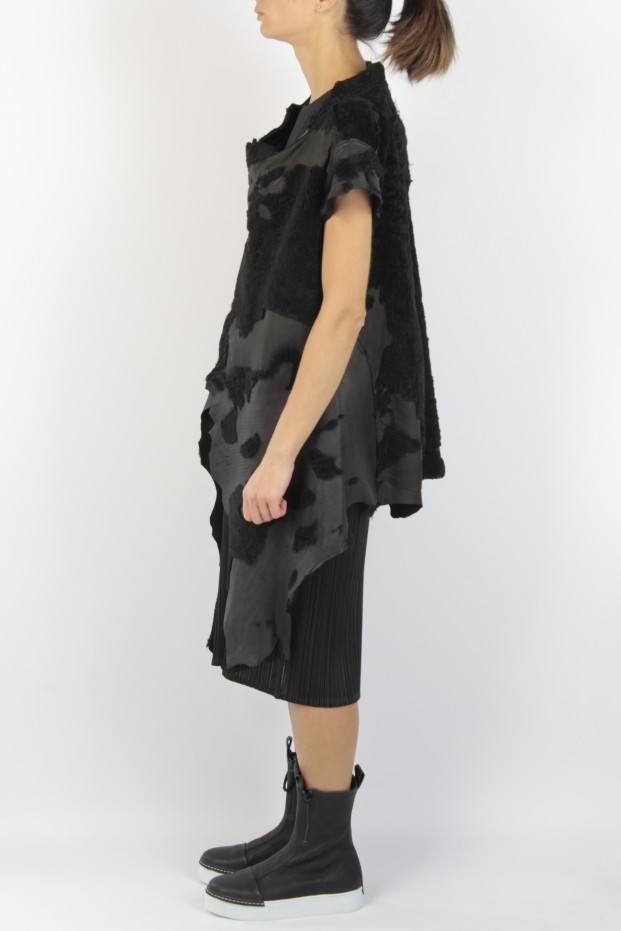 Claudio Cutuli Devoured Leather Waistcoat