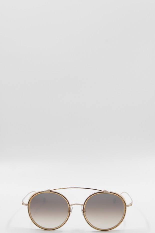Matsuda Eyewear Matte Caramel + Brushed Gold Sunglasses