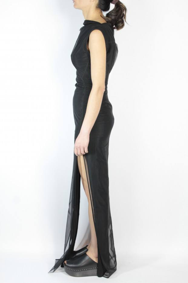 Simple Collage Gown Dress