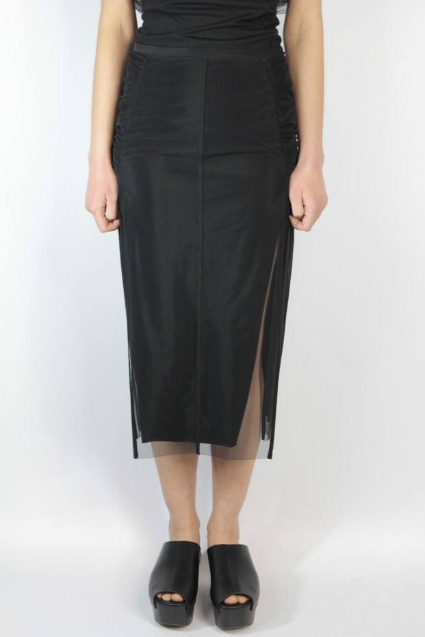 Rick Owens Collage Knee Lenght Skirt