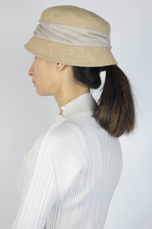 MATURE ha. Jute Drape Hat