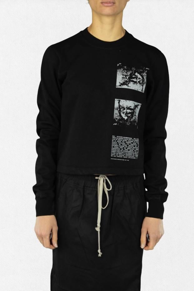 Rick Owens Cropped Crewneck Sweater
