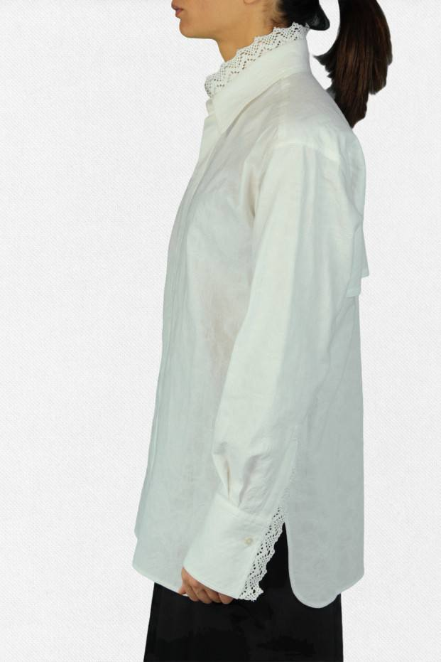 Collar Lace Shirt