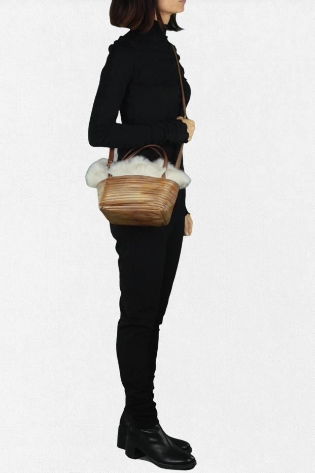 Majo Fur Stripe Bag
