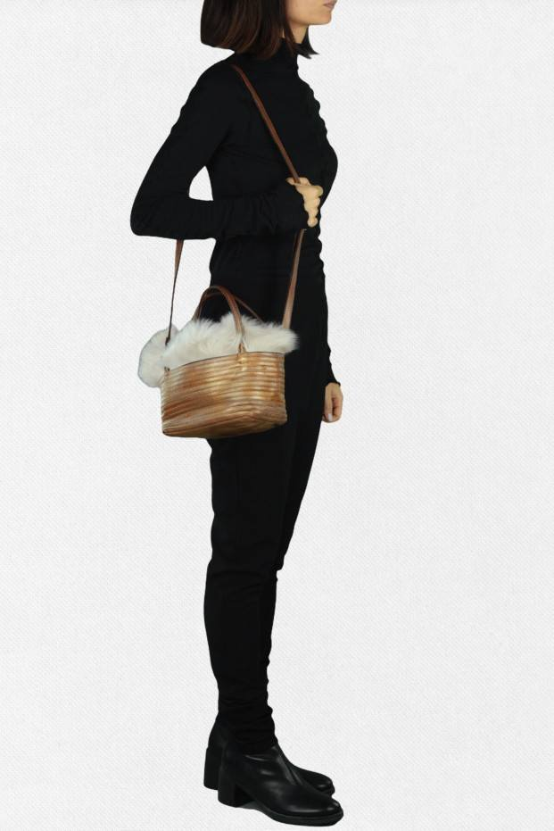 Fur Stripe Bag