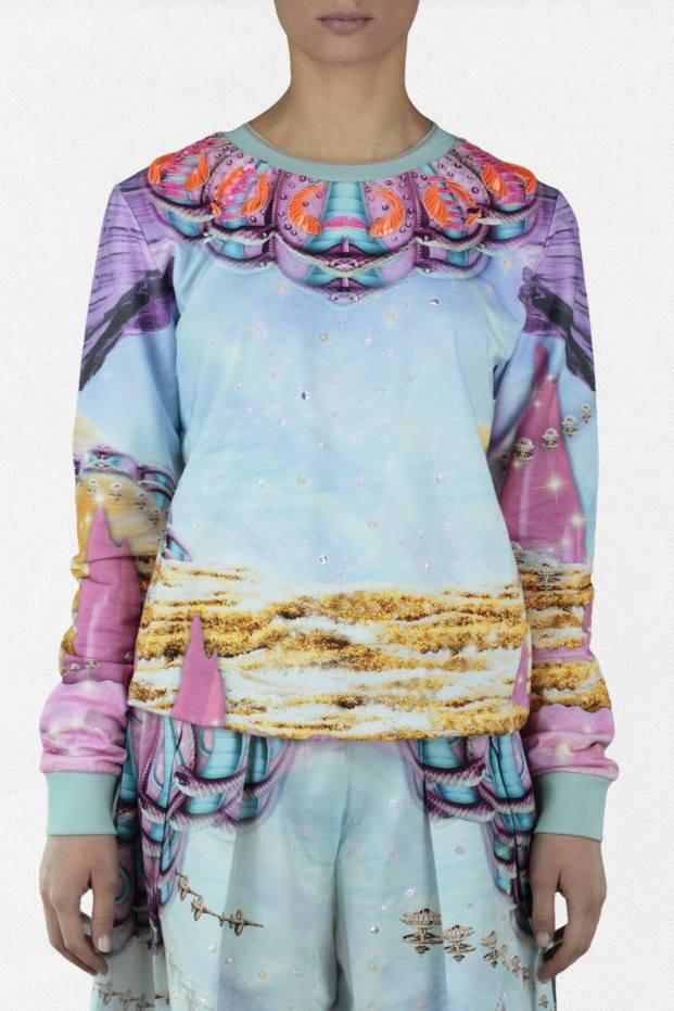 Sweater Fleece Space God