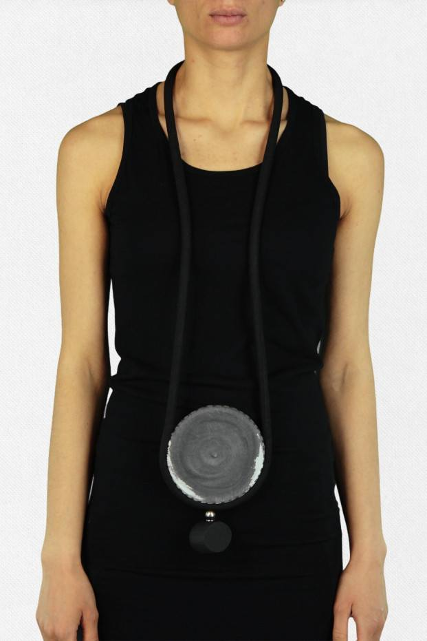 Tubular Disc Necklace