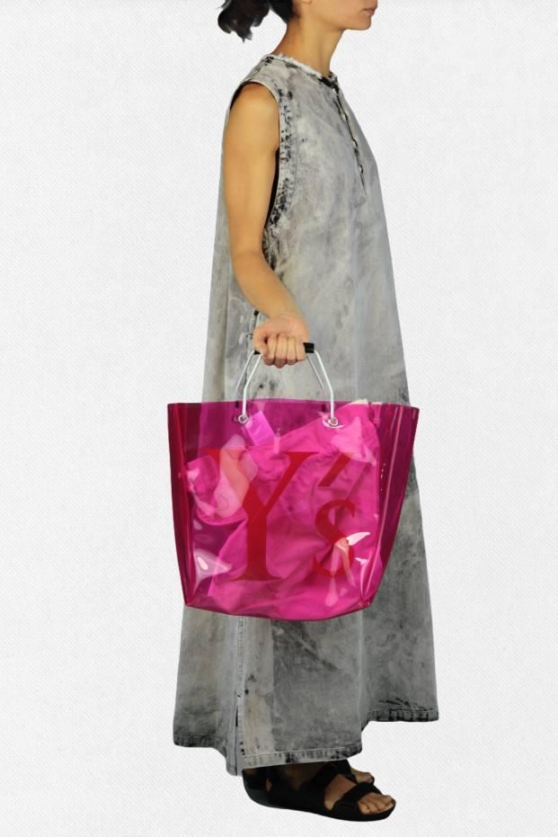 Y's Pvc Bag Pink