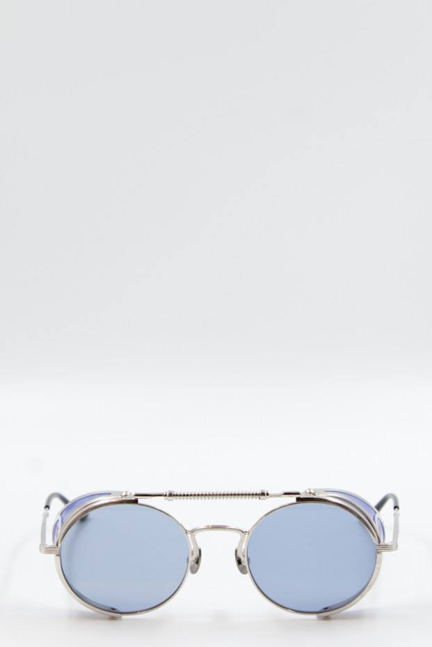 Brushed Silver T Sunglasses