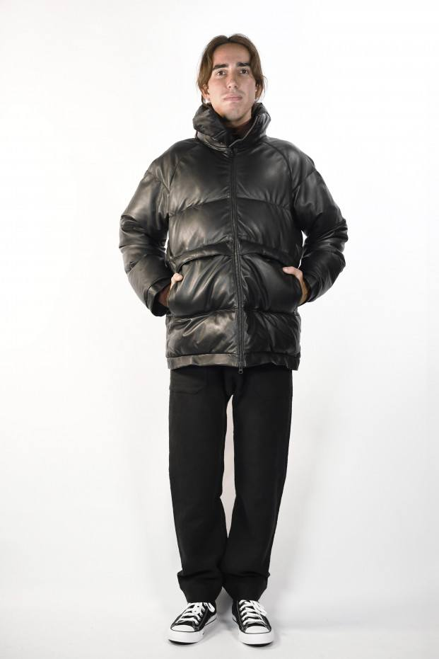 Y's Leather Down Jacket