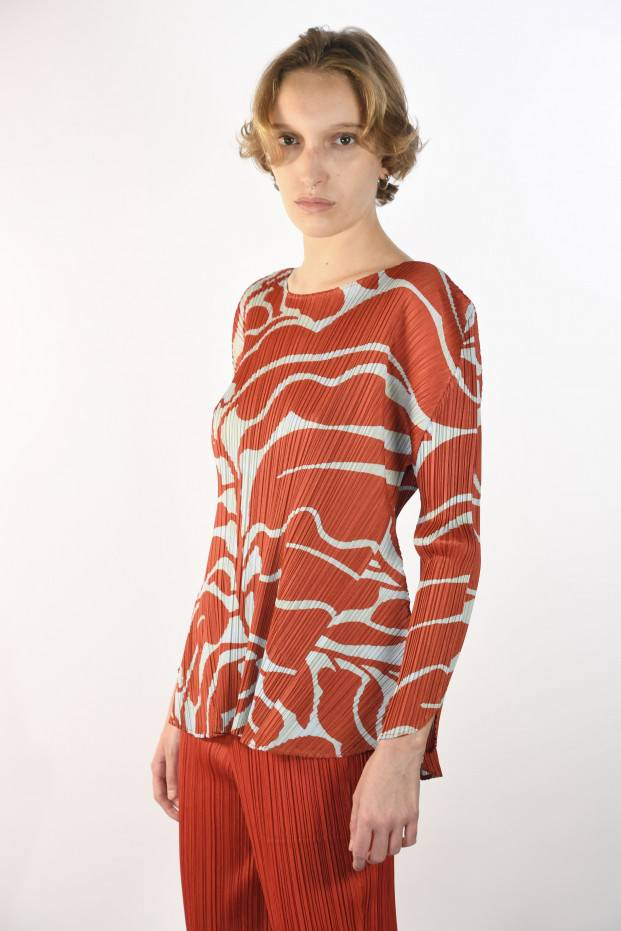 Pleats Please Issey Miyake Dreaming Leaves Shirt