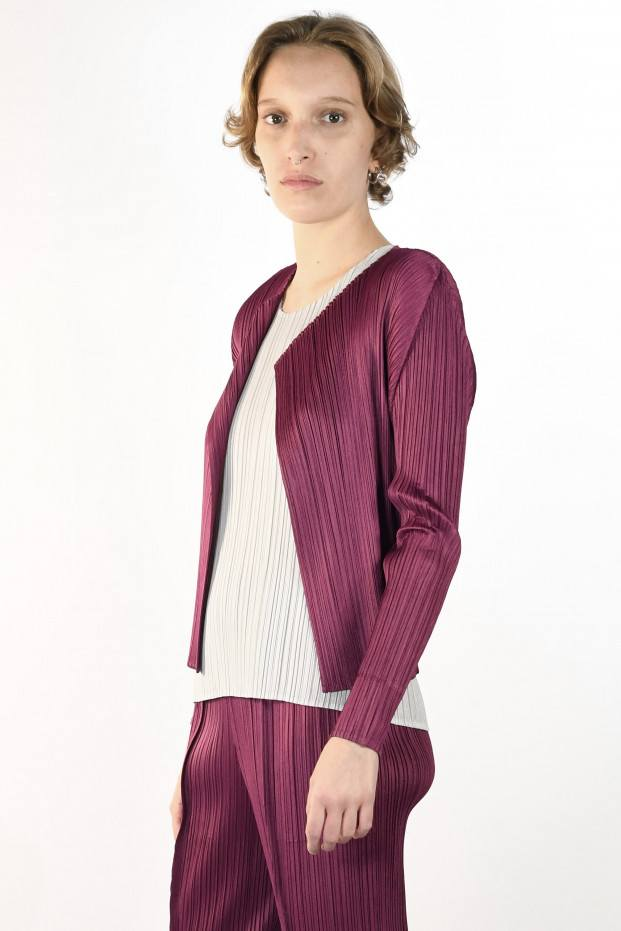 Pleats Please Issey Miyake Monthly Color Cardigan