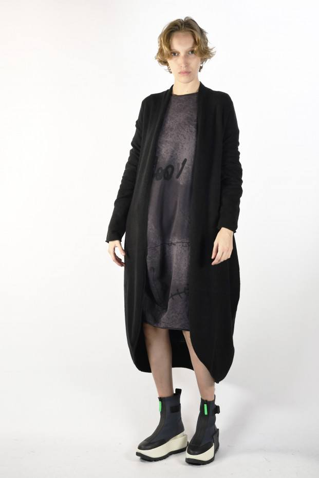 Knitted Long Coat 30%Pl...