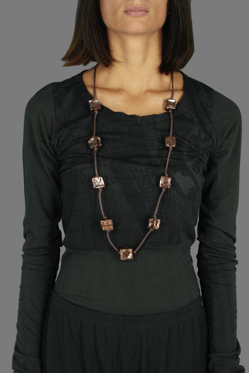 Cube 2 Bronze Necklace